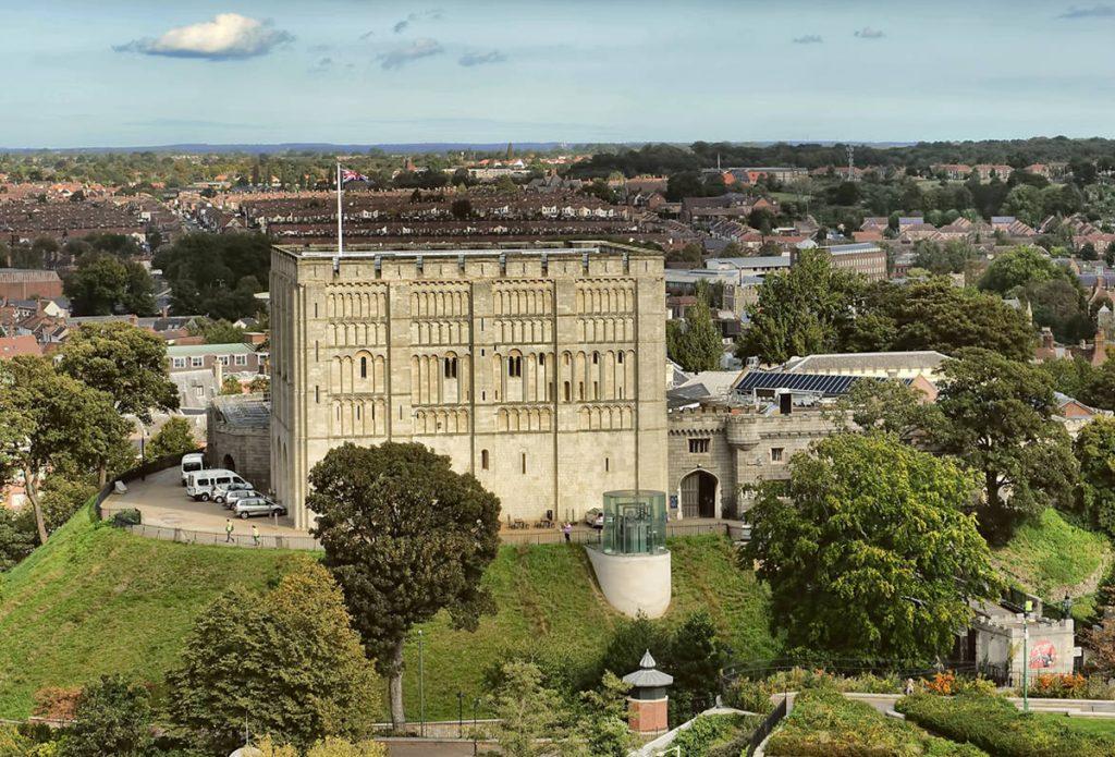 Norwich Castle, Royal Palace Reborn, skyline