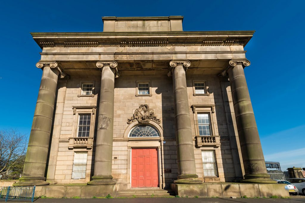 Exterior of the Old Curzon Street Station in Birmingham