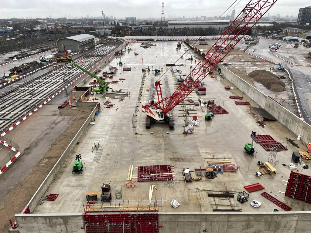 Progress at Willesden Euroterminal