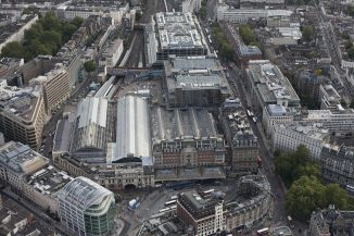 Victoria station - aerial view