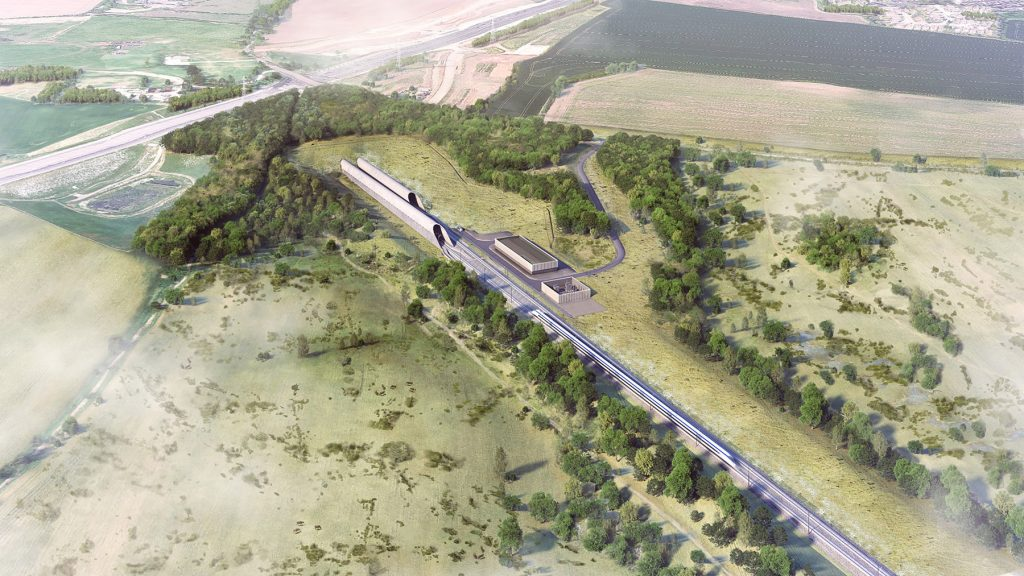 Integration of the HS2 rail line with the Western Valley slopes