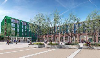 New student village at Rusham Park in Egham, Surrey