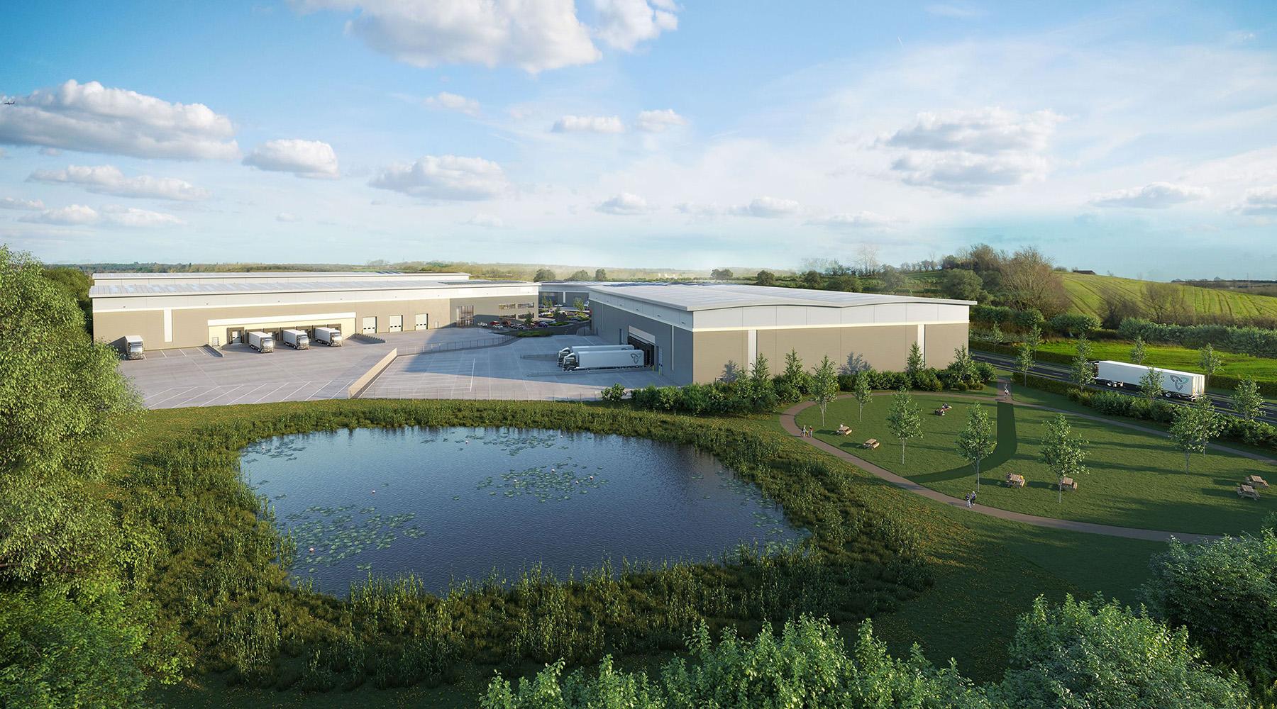 CGI of Ascent Logistics Park