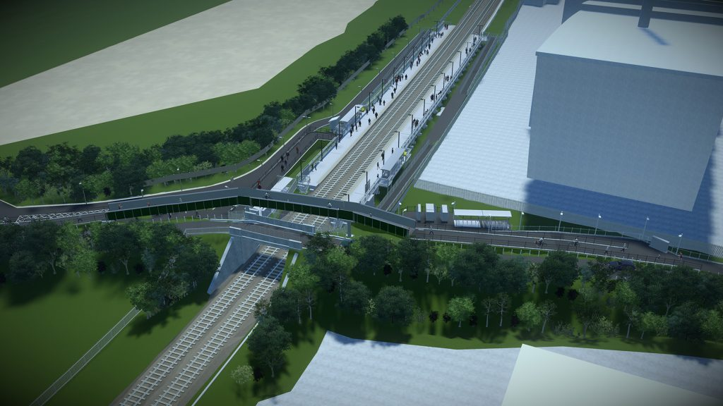 Visualisation 4 - West side of Bridge