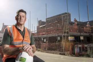 Award winner Carl Hess, site manager at Risby Homes. Image credit: Leo Francis
